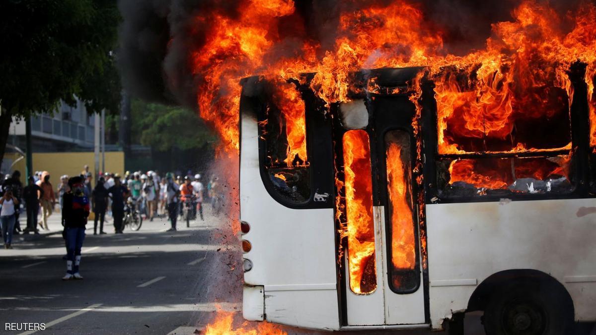 جانب من مظاهرات فنزويلا