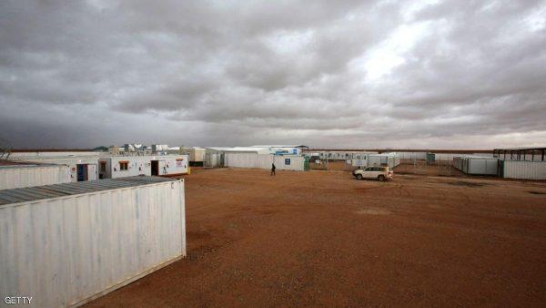 منظر عام لمخيم الرقبان السوري على الحدود السورية