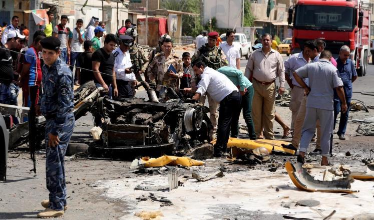 صورهمقتل ثمانية بهجوم على مقر المخابرات بـ #بغداد
